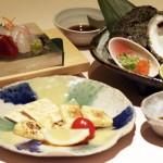 刺身3種、チーズ西京漬け、岩牡蠣酒蒸し