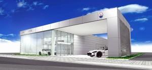 「マセラティ広島 福山サービスセンター」の完成予想図