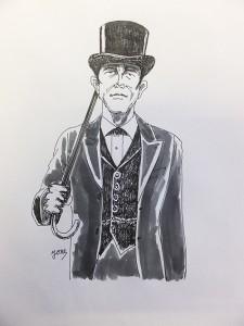 襟付きベストを着たシャーロック・ホームズ